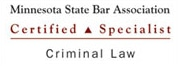 Minnesota State Bar Association Criminal Law Certified Specialist, Patrick Cotter