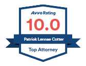 Avvo Patrick Cotter Rating 10.0