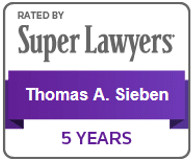 Super Lawyers 5 Years Tom Sieben